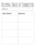 Keeping Track of Characters