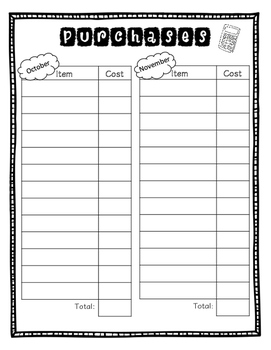 Keeping Track of Classroom Purchases