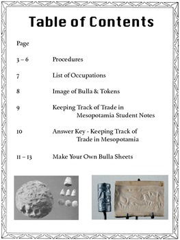 Keeping Track of Trade in Mesopotamia: A Simulation and Hands-On Activity