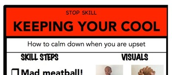 Keeping Your Cool Social Skill Steps Poster - The Empower Program K-2