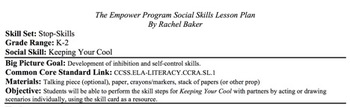 Keeping Your Cool - Social Skills Lesson Plan