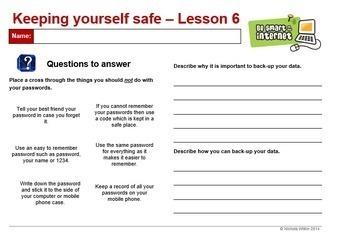 Keeping Yourself Safe Online 6-week complete unit