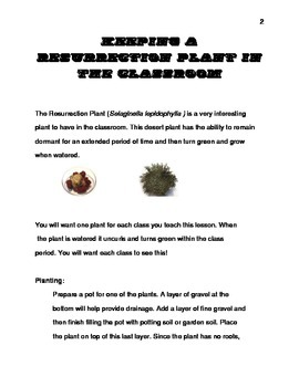Keeping a Resurrection Plant in the Classroom