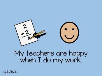 Keeping my teachers Happy Social Story