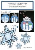 Free Christmas Craft: Snowman Keepsake Fingerprint Ornament