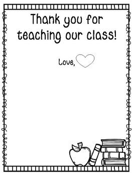 Keepsake for Student Teachers