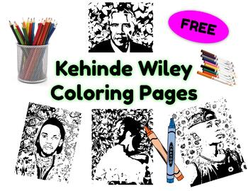 Kehinde Wiley Coloring Pages