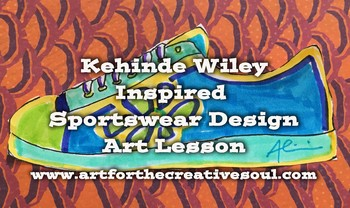 Kehinde Wiley Inspired Sportswear Design Art Lesson