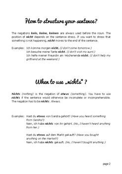 Kein vs Nicht - When to use what
