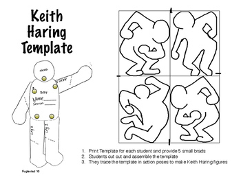 Keith Haring Action Pose Template and Directions