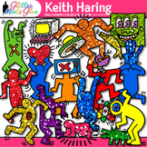 Keith Haring Clipart: Art History Graphics for Art Lessons {Glitter Meets Glue}