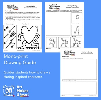 Keith Haring Inspired Monoprint Art Lesson Powerpoint
