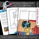 Keith Haring Art History Workbook and Art Activities - Soc