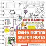 Keith Haring Sketch Notes for Visual Art Worksheet - Art W
