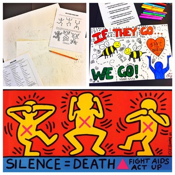 """Keith Haring """"Social Issues"""" Poster Project - Complete Lesson"""