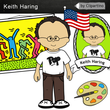 Keith Haring clipart - Artists Clip Art