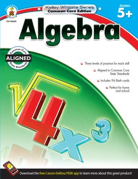 Kelley Wingate Algebra Grades 5-8 SALE 20% OFF! 104632