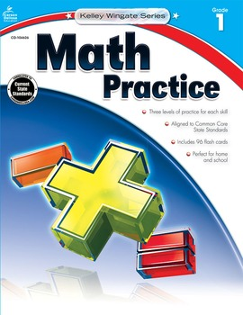 Kelley Wingate Math Practice Grade 1 SALE 20% OFF! 104626