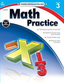 Kelley Wingate Math Practice Grade 3 SALE 20% OFF! 104628