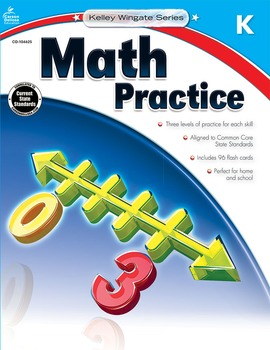 Kelley Wingate Math Practice Grade K SALE 20% OFF! 104625