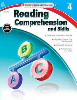 Kelley Wingate Reading Comprehension and Skills Grade 4 SALE 20% OFF! 104622