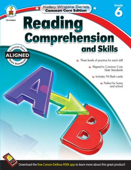 Kelley Wingate Reading Comprehension and Skills Grade 6 SALE 20% OFF! 104624