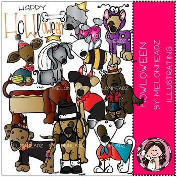 Howloween clip art - dogs - by Melonheadz