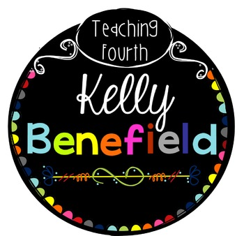 Kelly Benefield's Clipart Terms of Use