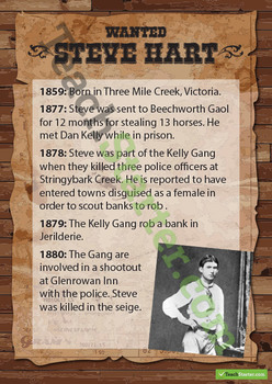 Kelly Gang Wanted Posters