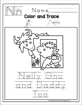 Nelly Gnu and Daddy Too  Book Unit