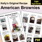 Kelly's American Brownie Recipe Metric and U.S. Measurements