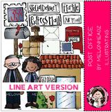 Post office clip art - LINE ART - by Melonheadz