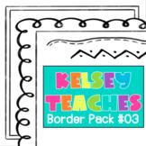 Border Frame Pack 3 | Digital Paper Background | Cute Doodle Frame
