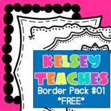 Border Frame Pack 1 | Digital Paper Background | Cute Doodle Frame