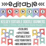 Kelsey Editable Doodle Banners