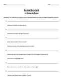 Kemal Ataturk - 10 Things to Know Handout