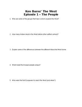 "Ken Burns ""The West"" Episode 1 Movie Questions"