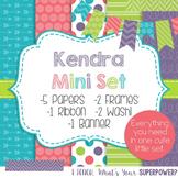 Digital Paper and Frame Mini Set Kendra