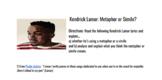 Kendrick Lamar: Simile or Metaphor?