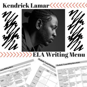 Kendrick Lamar Writing Menu