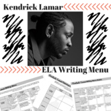 Kendrick Lamar Writing Menu