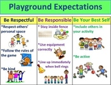 Primary School Playgound Expectations Poster