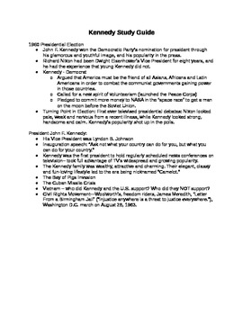 Kennedy Study Guide