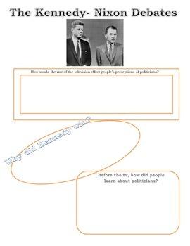 Kennedy vs Nixon Graphic Organizer
