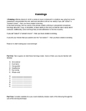 Kennings Worksheet