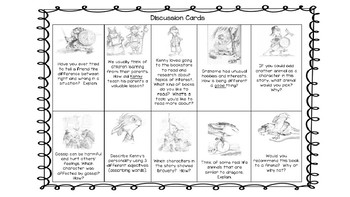 Kenny & the Dragon Comprehension Activities