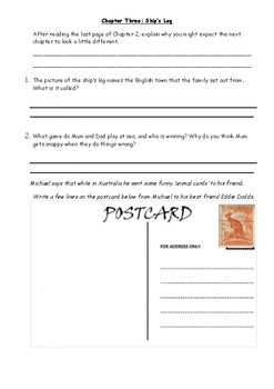 Kensuke's Kingdom Workpack - Supportive Worksheets for each chapter