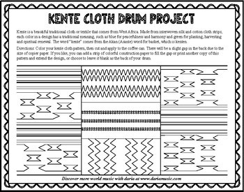 Kente Cloth African Drum Craft