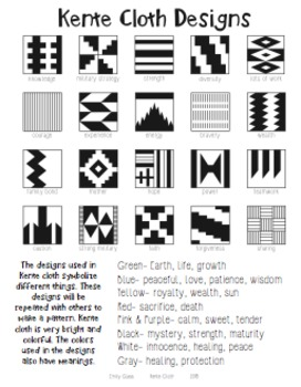 kente cloth designs and meanings by emily glass tpt