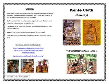 Kente Cloth Information Book